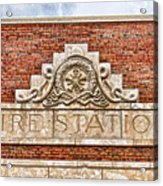 West Bottoms Fire Station Terracotta Dwc Acrylic Print