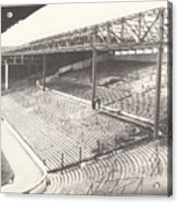 West Bromwich Albion - The Hawthorns - Brummie Road End 1 - Bw - 1960s Acrylic Print