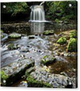 West Burton Falls, Yorkshire, England Acrylic Print