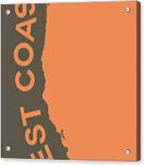 West Coast Pop Art - Crusta Orange On Judge Grey Brown Acrylic Print