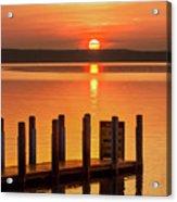 West Dnr Boat Launch July Sunrise Acrylic Print
