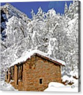West Fork Winter Acrylic Print