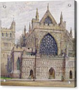 West Front, Exeter Cathedral Acrylic Print