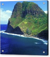 West Maui Ocean Cliff Acrylic Print