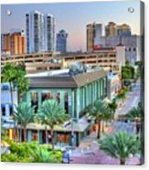 West Palm At Twilight Acrylic Print by Debra and Dave Vanderlaan