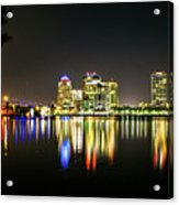 West Palm Beach Downtown Panoramic Acrylic Print