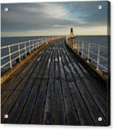 West Pier, Whitby, England Acrylic Print