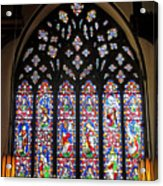 West Stained Glass Window Christ Church Cathedral 1 Acrylic Print