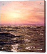 West Sunset Romantic Acrylic Print