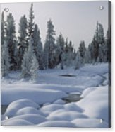 West Thumb Snow Pillows Acrylic Print