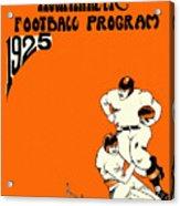 West Virginia 1925 Football Program Acrylic Print
