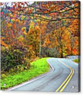 West Virginia Curves Acrylic Print