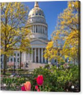 West Virginia State Capitol Colors Of Spring Acrylic Print