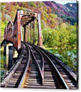 West Virginia Trestle Acrylic Print