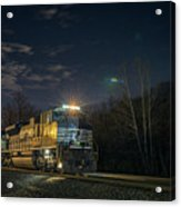 Westbound Norfolk Southern 375 At Georgetown In Acrylic Print