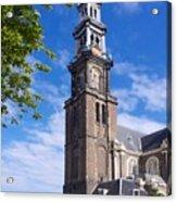 Westerkerk Tower And Church. Amsterdam. Netherlands. Europe Acrylic Print