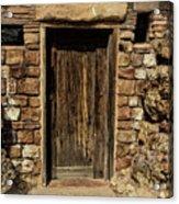 Western Door Acrylic Print