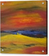 Western Horizon  Acrylic Print by Steve Jorde
