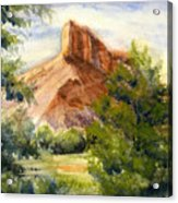 Western Landscape Watercolor Acrylic Print