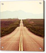 Western Road Acrylic Print