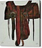 Western Saddle Acrylic Print