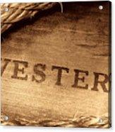 Western Stamp Branding Acrylic Print