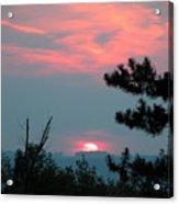 Western Sunset Sun On The Horizon Acrylic Print