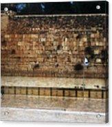 Empty Western Wall Acrylic Print
