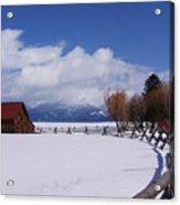 Western Winter Acrylic Print