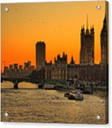 Westminster & Big Ben London Acrylic Print by Photos By Steve Horsley
