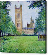 Westminster Abbey From Abbey Grounds London England 2003  Acrylic Print