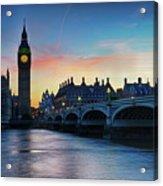 Westminster At Dusk Acrylic Print