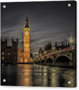 Westminster At Night Acrylic Print