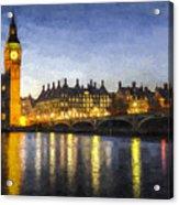 Westminster Bridge And Big Ben Art Acrylic Print