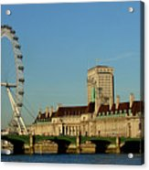 Westminster Bridge And London Eye Acrylic Print