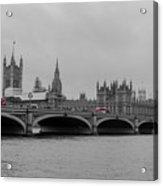 Westminster Bridge In  London Acrylic Print