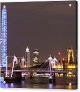 Westminster From Waterloo Bridge London Acrylic Print