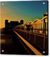 Weston Pier At Sunset Acrylic Print