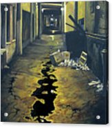 Wet Alley Acrylic Print
