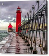 Wet At Grand Haven Acrylic Print