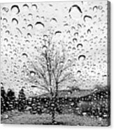 Wet Car Window B Acrylic Print