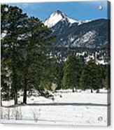 Wet Mountain Valley In Winter Acrylic Print