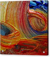 Wet Paint - Run Colors Acrylic Print