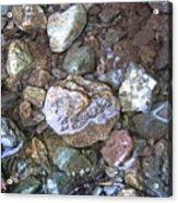 Wet Rocks Acrylic Print
