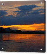 Wet Sand And Clouds Acrylic Print