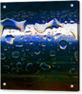 Wet Steel Blue Acrylic Print