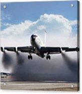 Wet Takeoff Kc-135 Acrylic Print