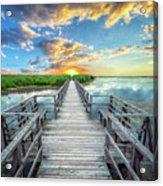 Wetland Marsh Sunrise Treasure Coast Florida Boardwalk A1 Acrylic Print