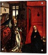 Weyden Annunciation Triptych Acrylic Print