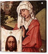 Weyden Crucifixion Triptych  Right Wing  Acrylic Print